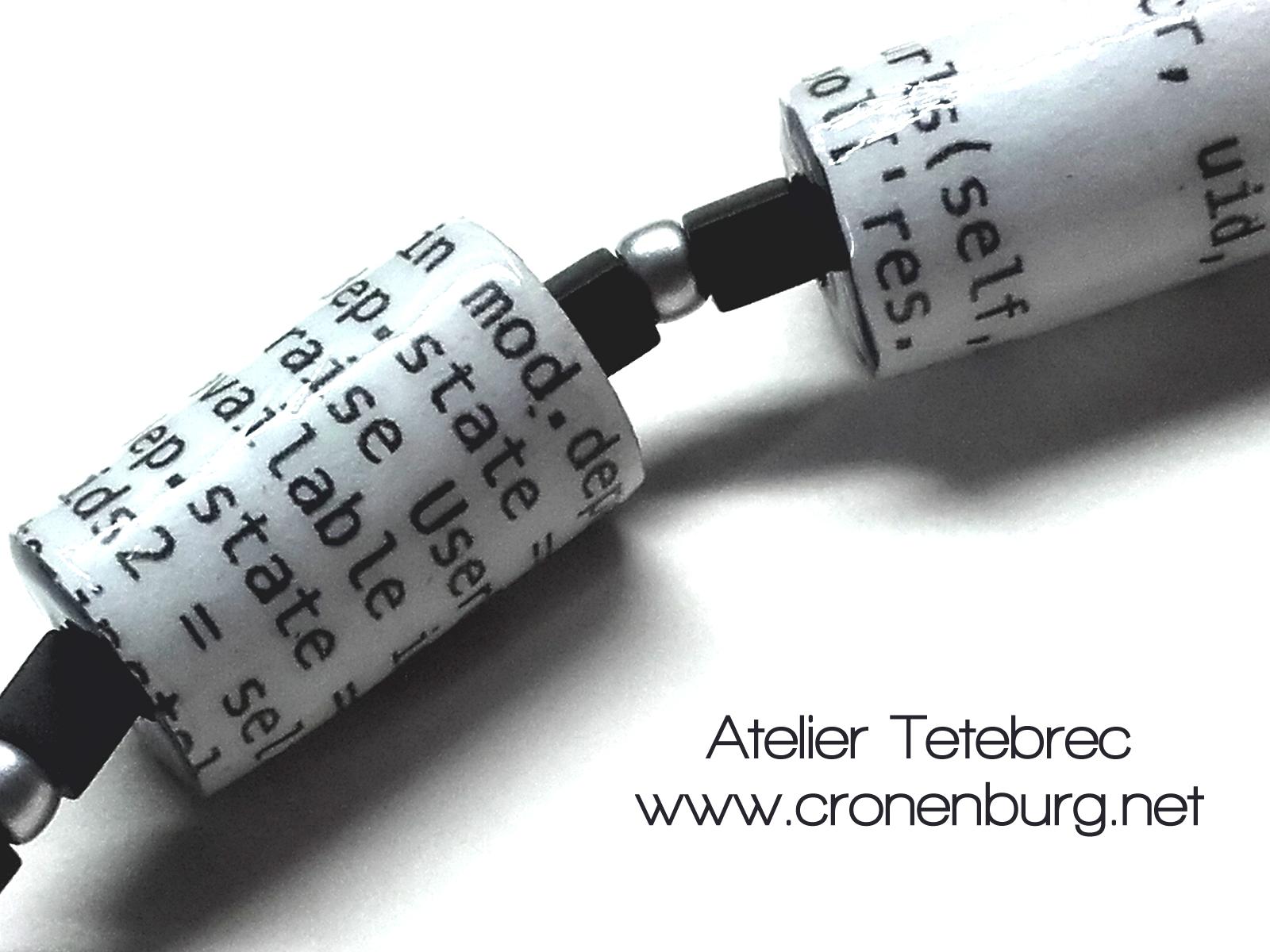 Papierperlenkette Code