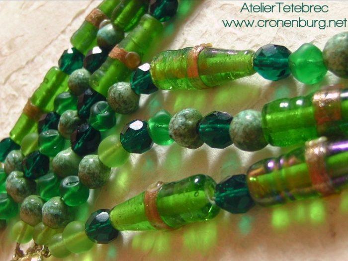 grüne Perlenkette
