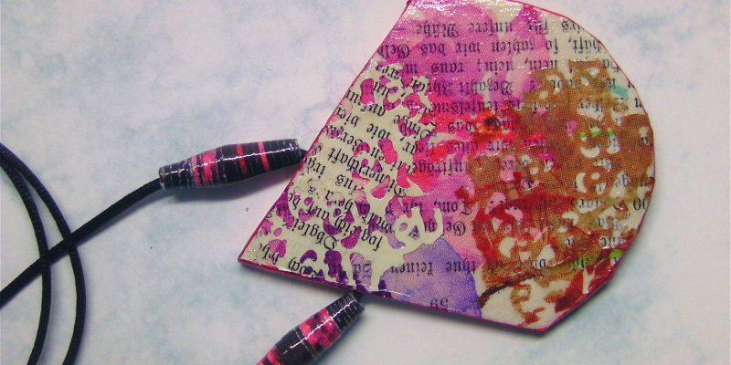 Paper Art Anhänger pink
