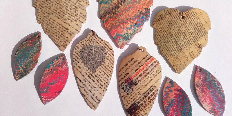 Kollektion Papierblätter