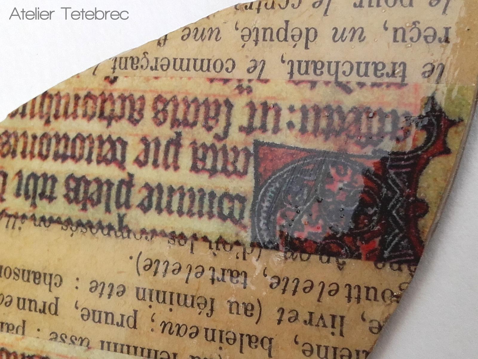 Blatt Mittelalter Detail
