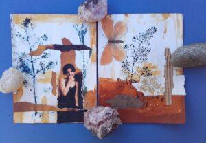 Art Journal Seiten in reduzierten Farben