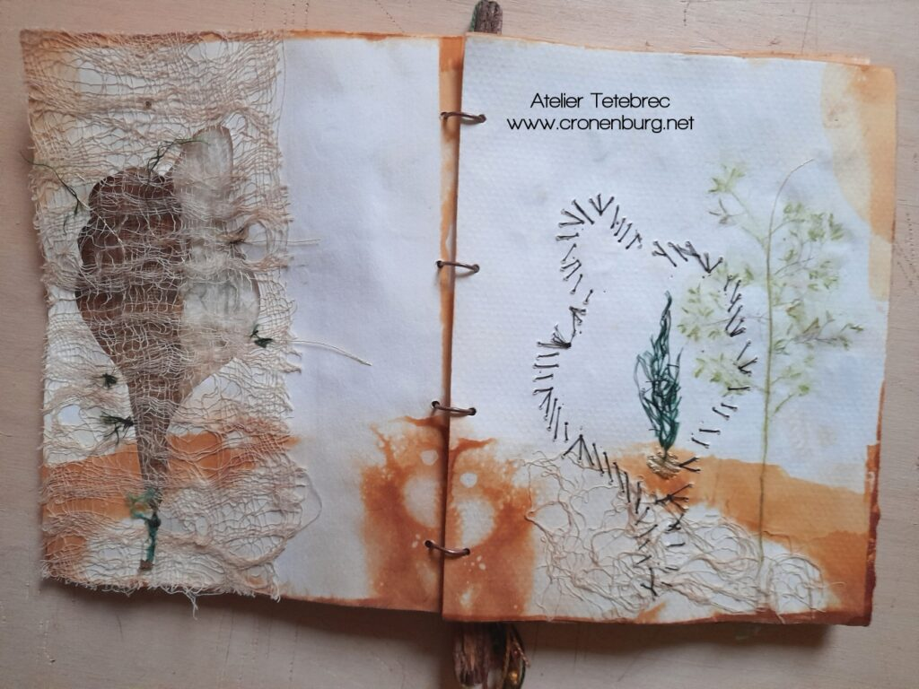 Art Journal Textiles und Papier