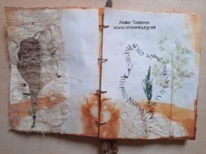 Textiles und Papier im Art Journal